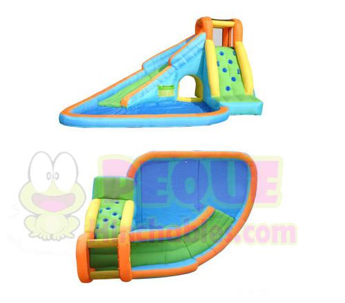 Castillo hinchable tobog n y piscina mini castillos hinchables happy hop espa a - Tobogan hinchable para piscina ...
