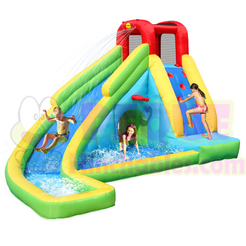 Castillo hinchable carrera acu tica mini castillos for Tobogan piscina ninos