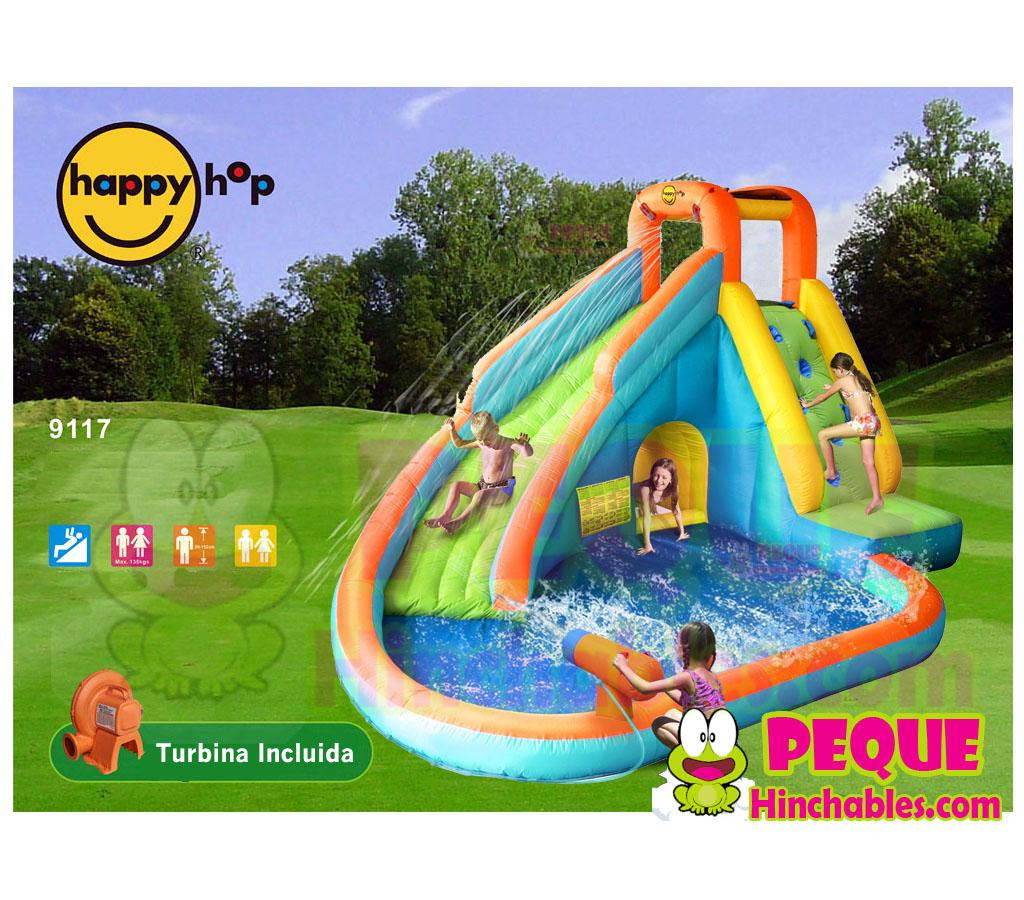 Piscina hinchable tobogan juegos for Precio piscina hinchable